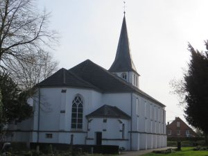 Die Schinkel-Kirche von Götterswickerham.