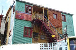 Ein Wohnhaus in La Boca.