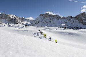 Der Naturpark Puez-Geisler eignet sich hervorragend für Wintertouren in unberührter Schneelandschaft. – Foto: Val Gardena-Grödental | Oliver Jaist