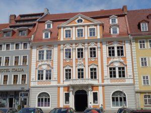 Stattliche Häuser am Obermarkt. – Foto: Dieter Warnick