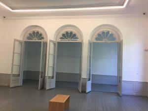 Das wiederhergestellte Kurhaus, Durchgang zum Beuys' Atelier.